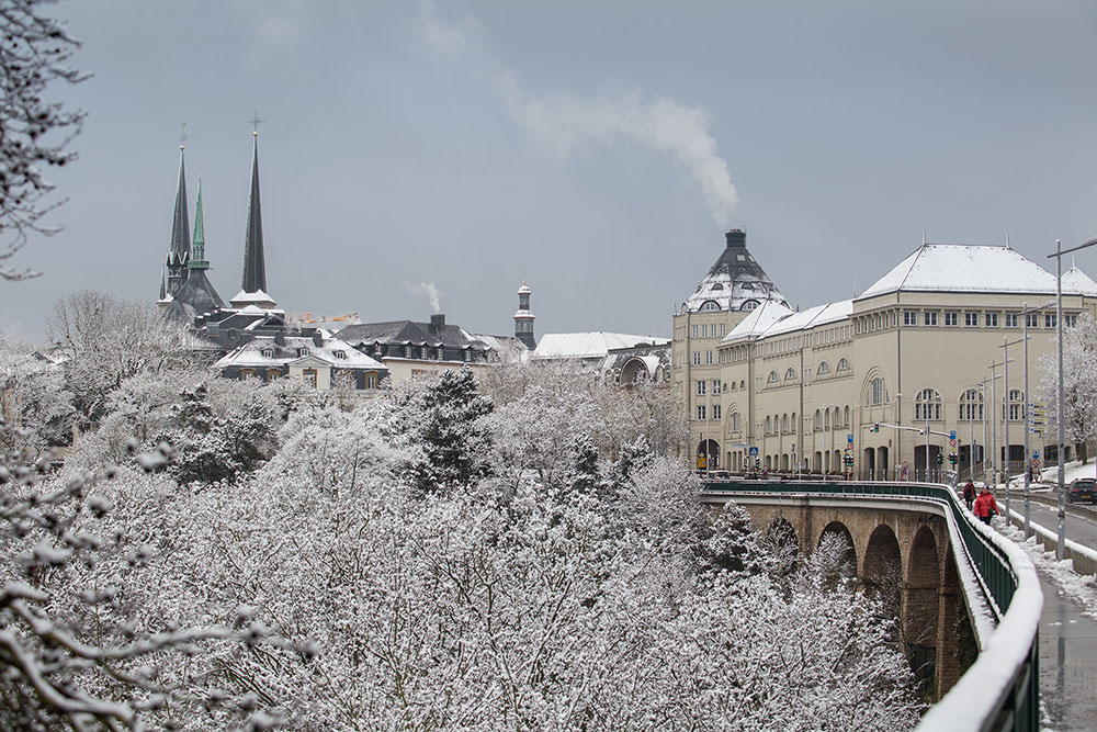 snow in Luxembourg city