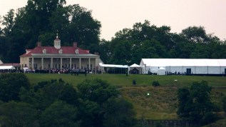 Celebration on the grounds of Mt. Vernon