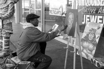 Photographers of Las Vegas - Portrait Photography - The painter environmental portrait