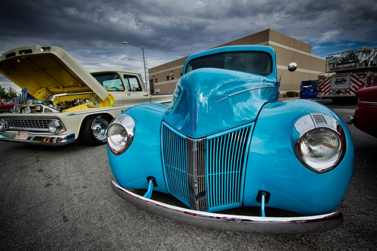 Photographers of Las Vegas - Car Photography - sky blue dark clouds