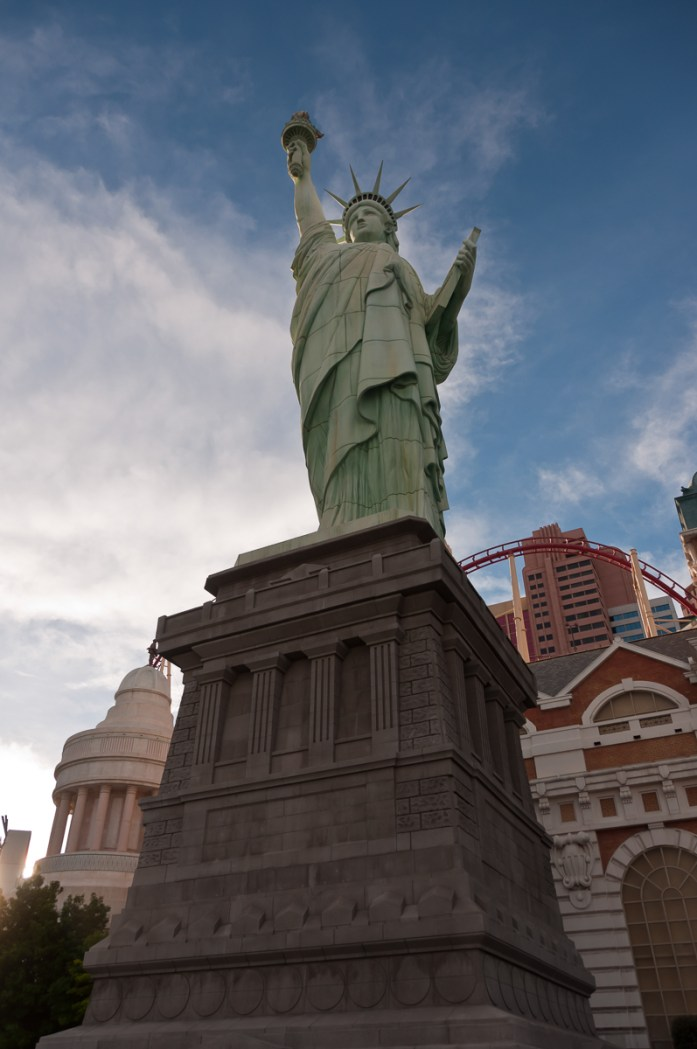 Photographers of Las Vegas - Architectural Photography - Statue of Liberty in vegas