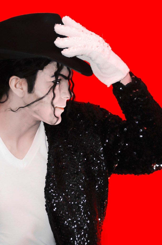 Photographers of Las Vegas - Portrait Photography - Michael Jackson impersonator red background