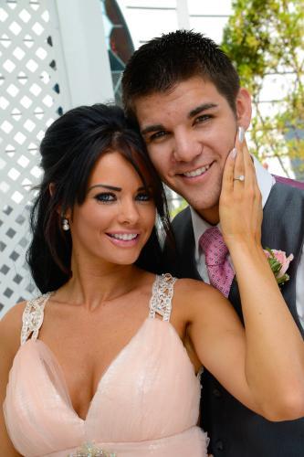 Photographers of Las Vegas - Wedding Photography - wedding bride and groom inside gazebo happy