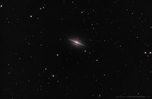 Sombrero Galaxy with a Dobsonian