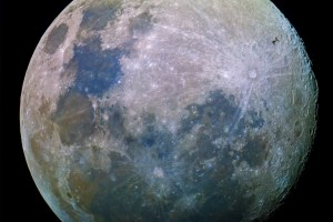 ISS Transit of the moon
