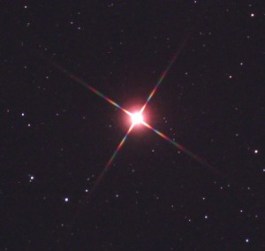 Antares with diffraction spikes
