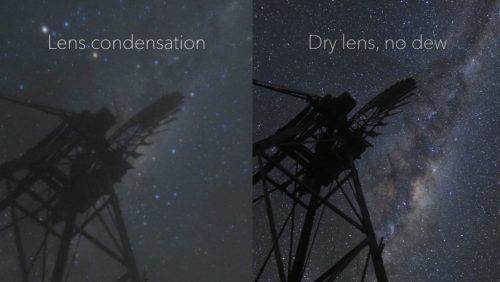 Lens dew splitscreen
