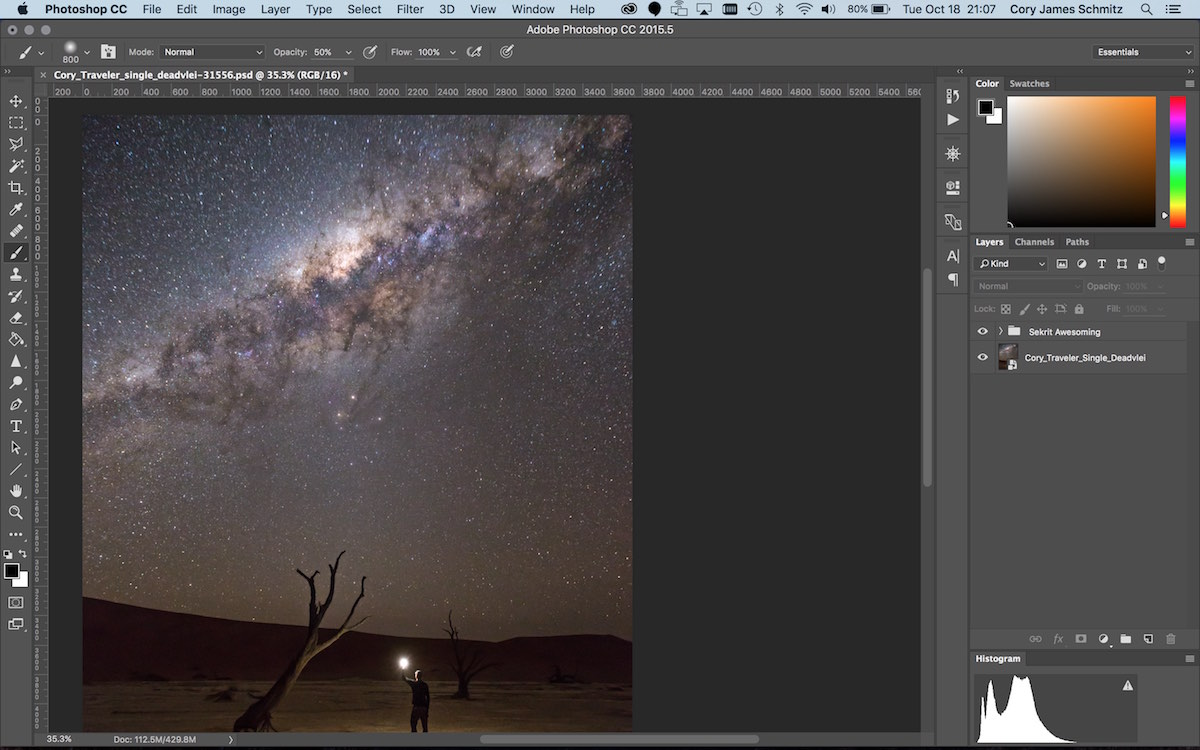 How To Add Masked Color to the Milky Way using Photoshop