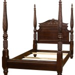 Mahogany Four Poster Bed By Bernhardt Feb 18 2018 Leonard Auction Inc In Il