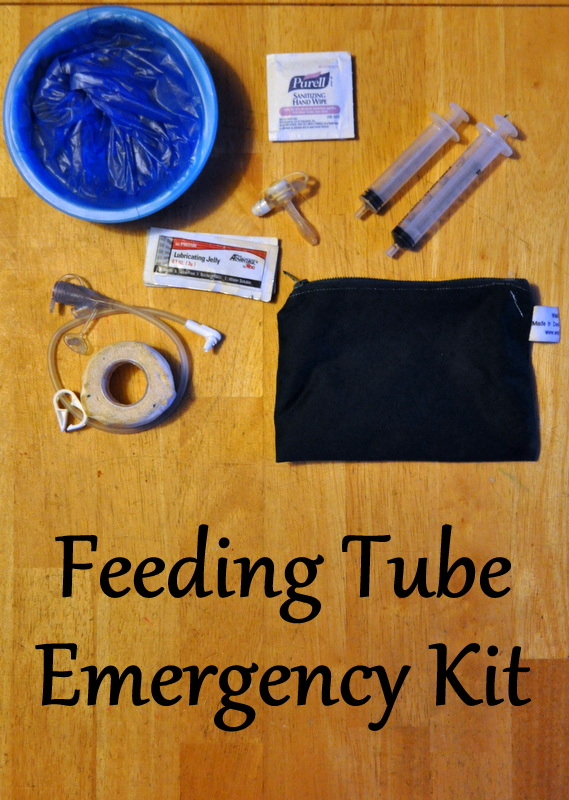 Feeding Tube Emergency Kit image for Pinterest