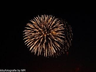 Feuerwerk in Knokke-Heist, Belgien 2016