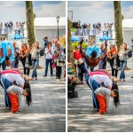 Street Performers Leaping Over Six People Shoulder to Shoulder - Dayton Photographer Alex Sablan