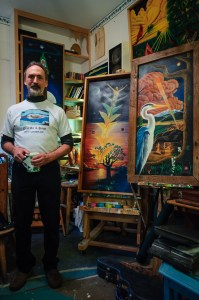 Chris Glaser in his Studio by Dayton Photographer Alex Sablan