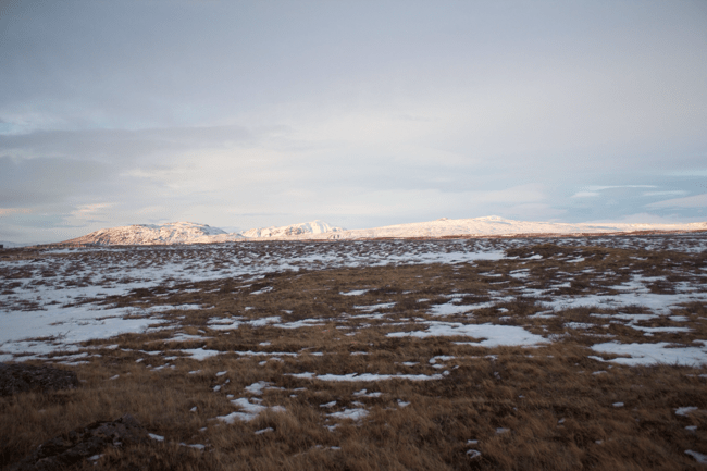 The mountains at Gullfoss