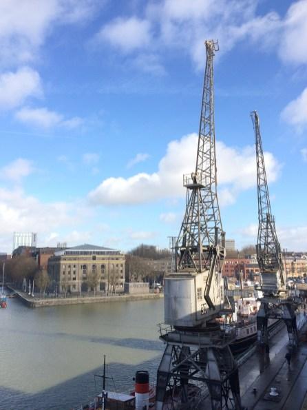 Old cranes at Bristol harbourside