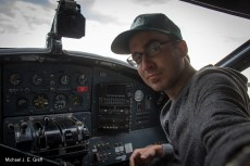 Copilot on our DH-C Otter flight into the camp
