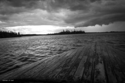 Storm rolling across Lake Esnagami