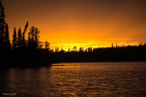 Sunset, Lake Esnagami