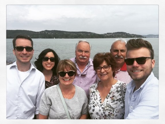 Lake Balaton with the Borbély family, my father's first cousin (Europe's largest lake)