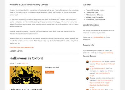 Levick Jones website screenshot
