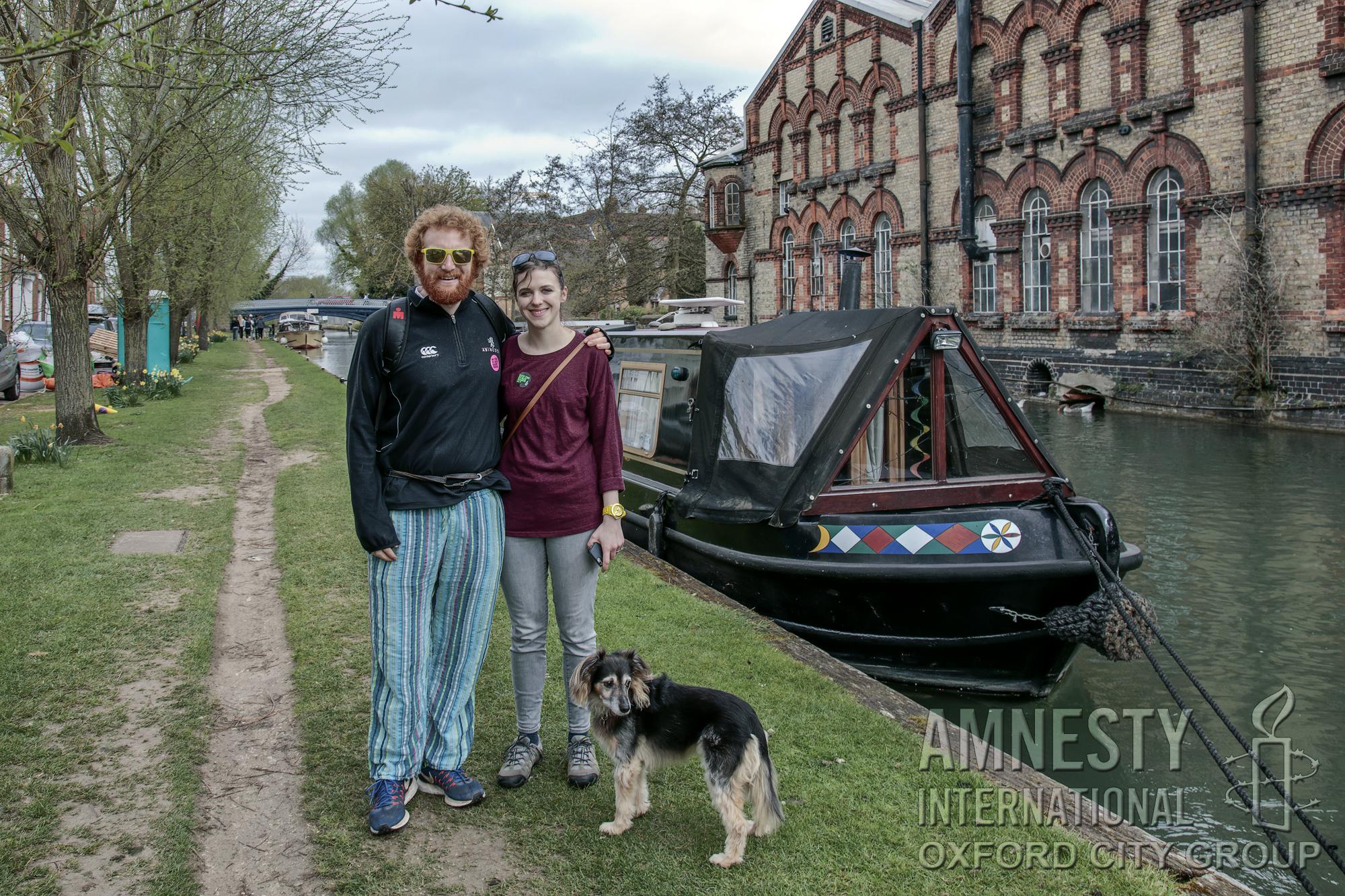 Catt the dog - Oxford City Amnesty sponsored walk 2017