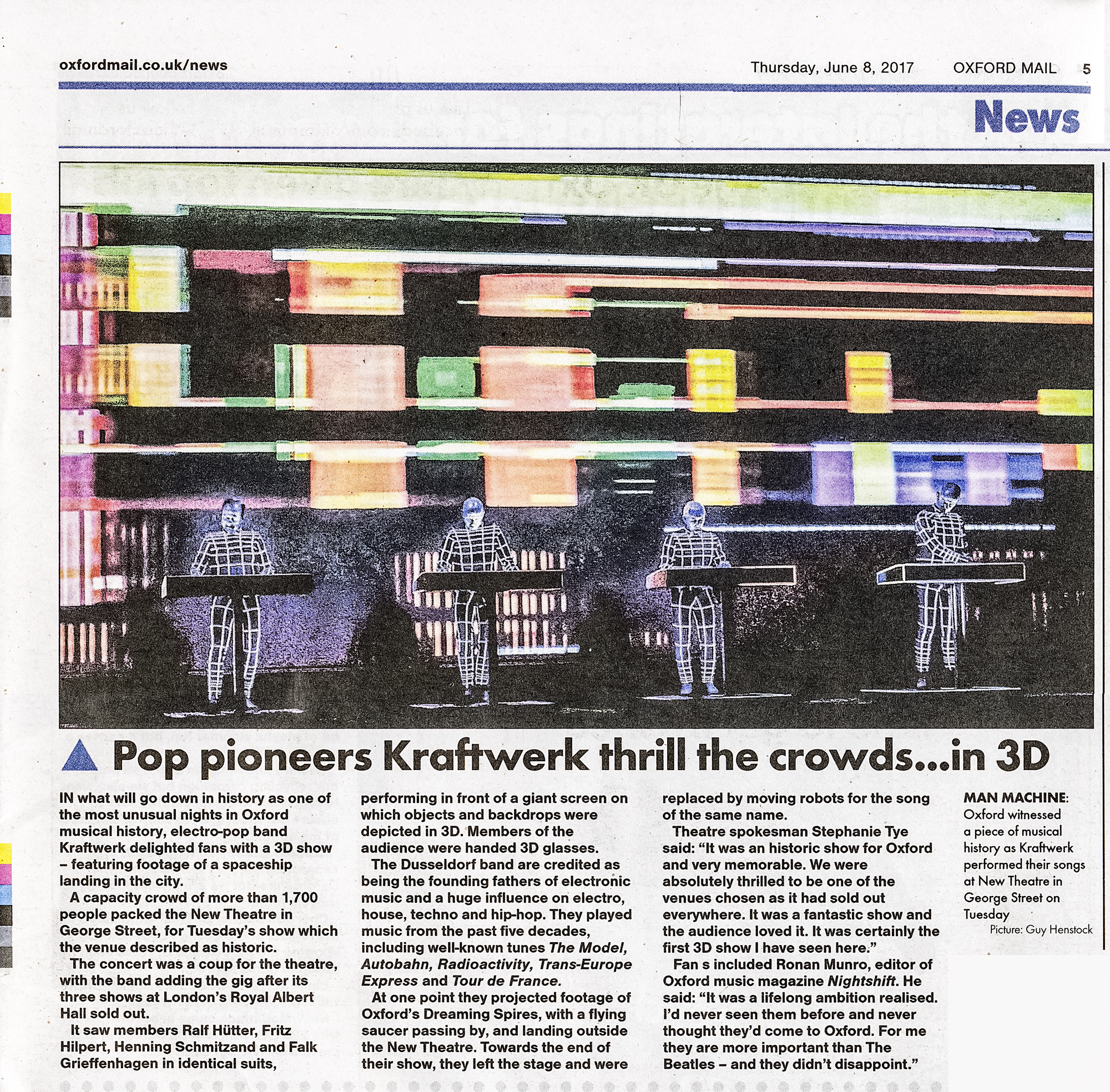 Oxford Mail - Kraftwerk at New Theatre Oxford