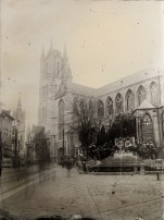 St Bavo's Cathedral - 13 x 18 cm ambrotype