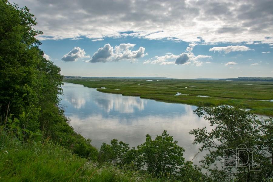 The Missouri River in Springfield, South Dakota