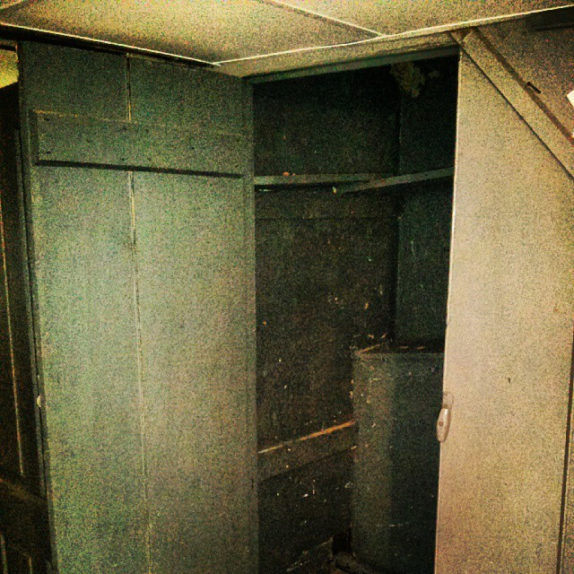 a photo of a creepy closet