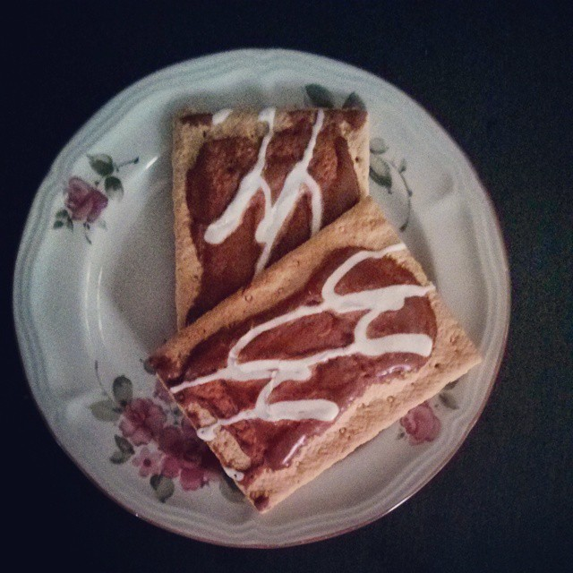 a photo of two smores pop-tarts on a plate