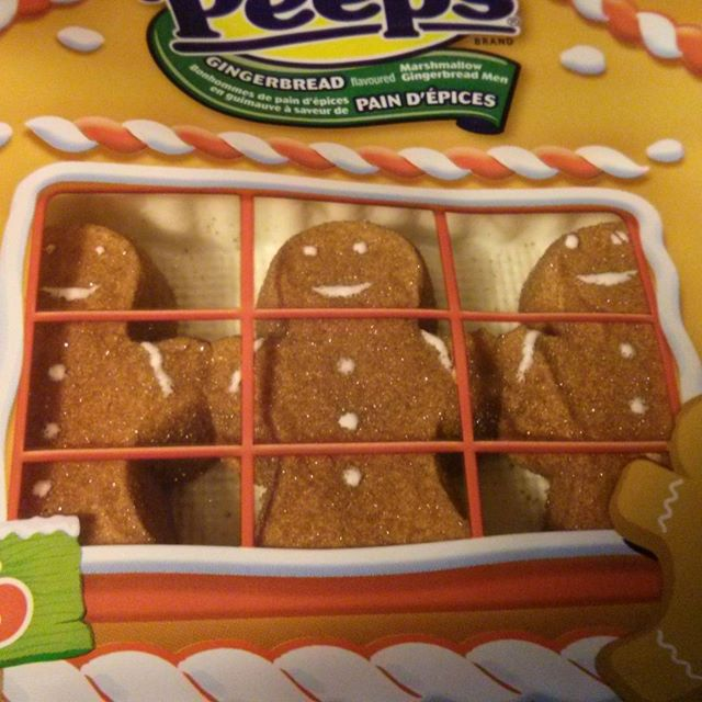 a photo of gingerbread men peeps