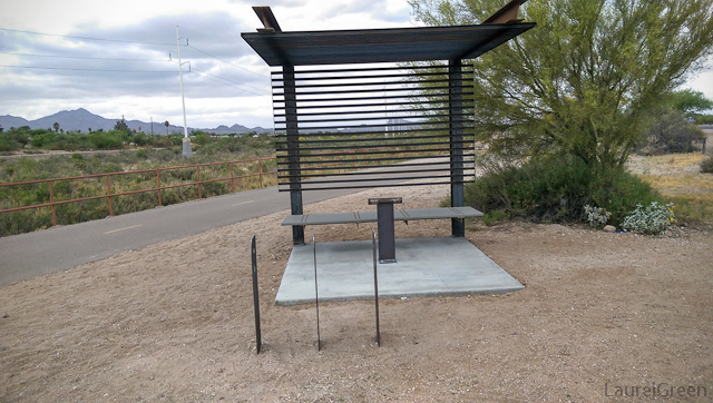 strange metal bench structure
