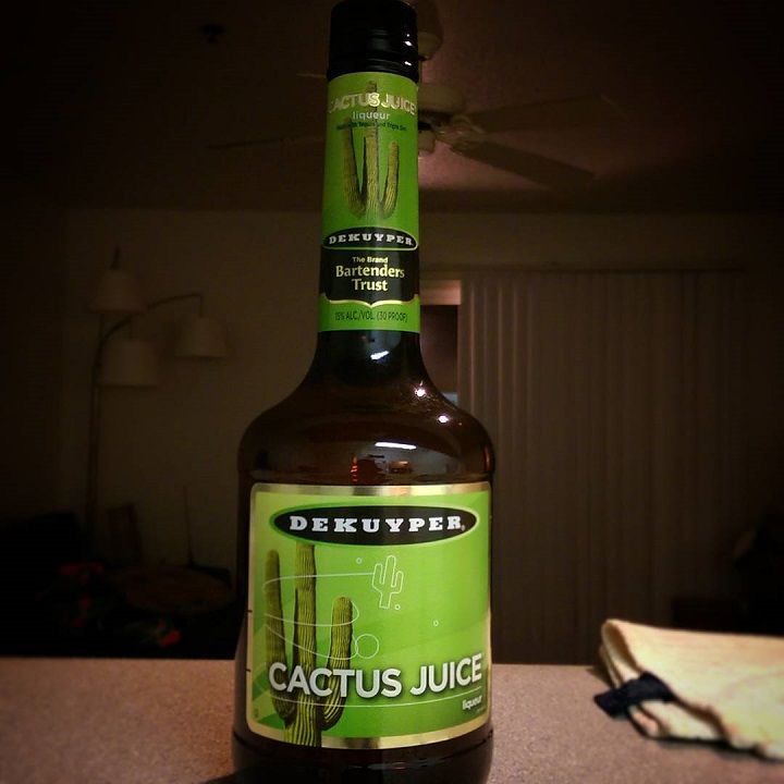 a photo of a bottle of dekuyper cactus juice