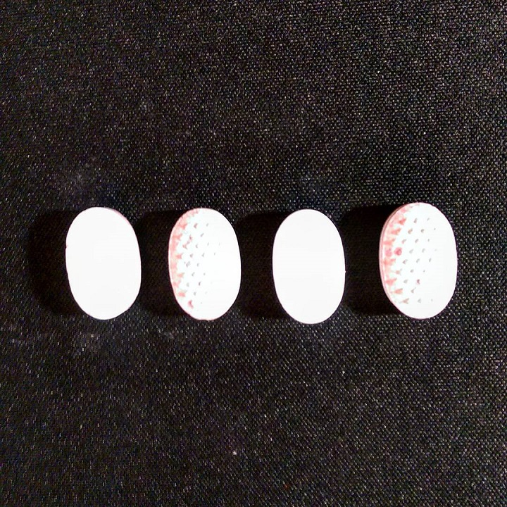 an overexposed photo of four mints