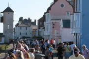 Aldeburgh is generally very crowded at weekends in summer.