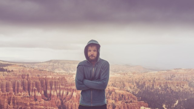2 Minutes Before the Rangers Closed Bryce Canyon, Bad Weather - © Ofer Rozenman