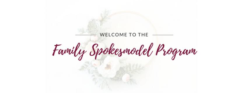 family spokesmodel application