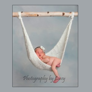 Photography of newborn in baby hammock