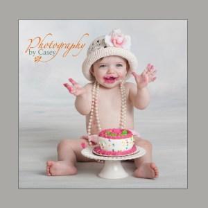 Baby's First Birthday Cake Smash photograph