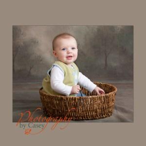 baby in basket photographer