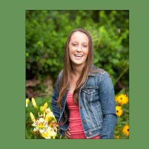 High School Senior Garden Photography