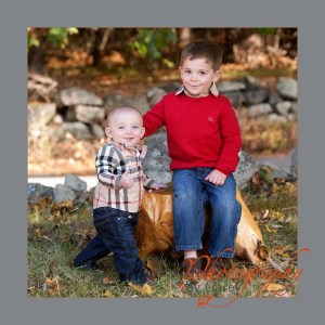 photography of brothers posed in Autumn setting