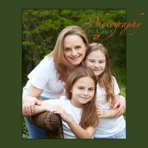 portrait of Mom with daughters