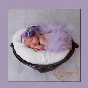 sleeping newborn baby sleeping in pot