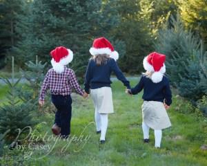 Children's Photos at Christmas Tree Farm