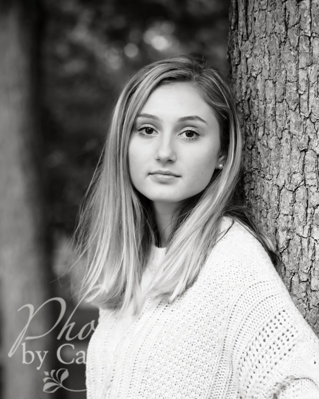high school senior black and white photography