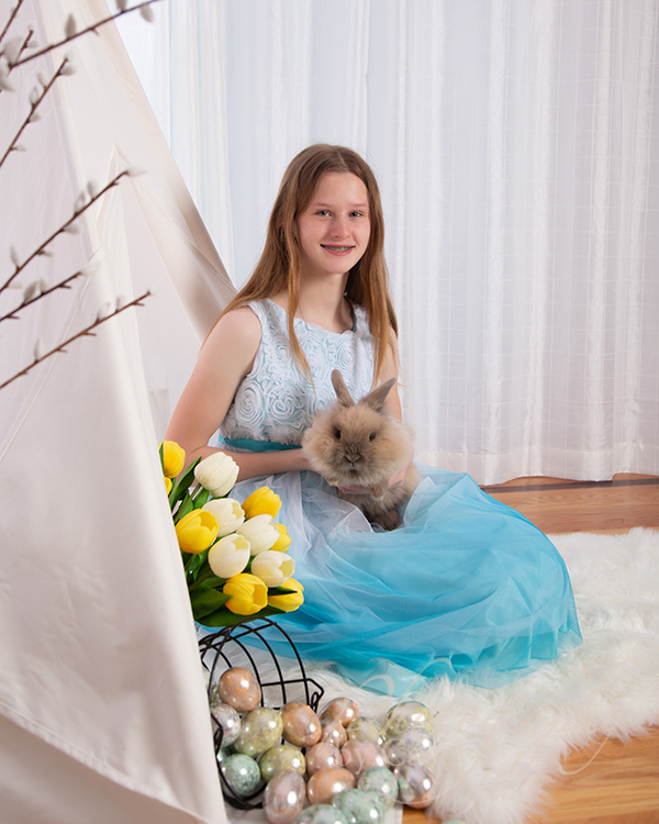 Bunny photography with children