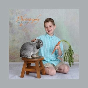 bunny and children photography