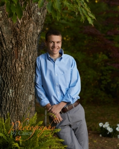 Outside High School Senior Portrait Photography