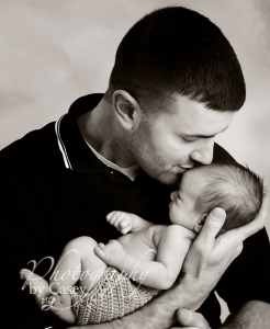 Newborn baby and daddy photography